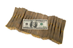 American dollar stack isolated Royalty Free Stock Image