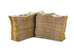 American dollar stack isolated Stock Image