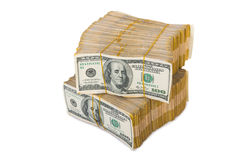 American dollar stack Royalty Free Stock Images