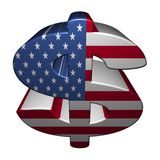 American dollar symbol with flag Stock Photo