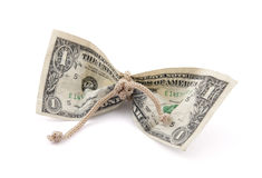 American dollar tied in twine Stock Images