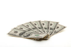American dollars. The American dollars on a white background Royalty Free Stock Photography