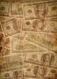 American dollars. Vintage background with American dollars Stock Images