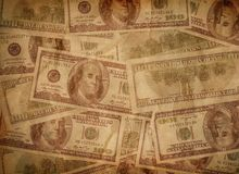 American dollars. Vintage background with American dollars Royalty Free Stock Photos