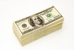 American Dollars. In different wievs stock image