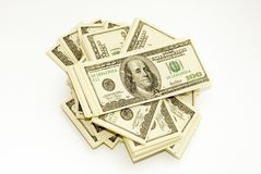 American Dollars. In different wievs Stock Photography