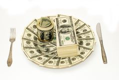 American Dollars. In different wievs stock photo
