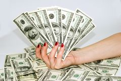 American Dollars. In different wievs Royalty Free Stock Images