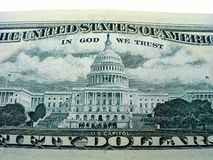 American dollars. American fifty dollars close - up stock images