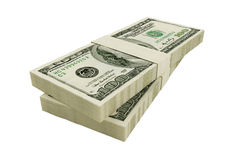 American dollars. It of hundred dollar denominations Royalty Free Stock Photography