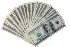 The american dollars Royalty Free Stock Photos