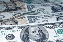 American dollars as a background. Close-up shot of american dollars what are laid out as a background stock photo