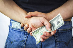 American dollars in back pocket Royalty Free Stock Images