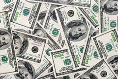 American dollars background Stock Image