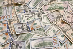 American dollars. The american dollars, for background stock photos