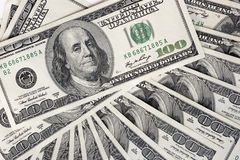 American dollars background Stock Images