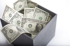 American dollars in box Stock Image