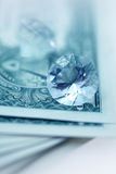 American dollars and brilliants Stock Photography