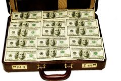American Dollars in Case Stock Images