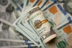 American dollars cash money. Closeup of american dollars cash money stock image