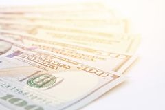 American Dollars Cash Money On White Background Stock Photography