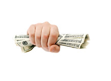 American dollars clenched Royalty Free Stock Photography