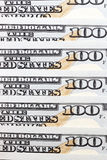 American dollars, close-up. Put together the American dollars. Photo close-up of banknotes on 100 Stock Images
