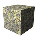 American dollars cube Royalty Free Stock Image