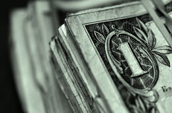 American Dollars Currency Representing Wealth and Riches Royalty Free Stock Photos