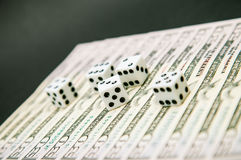 American dollars and dice Royalty Free Stock Photography