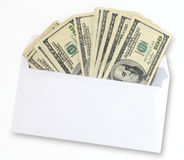 American dollars in an envelope Stock Images