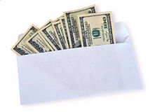 American dollars in an envelope Stock Photos
