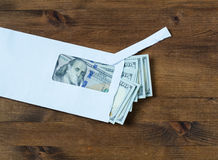 American dollars in  envelope Stock Photo