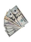 American Dollars fanned out Royalty Free Stock Photos