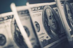 American Dollars in Focus Royalty Free Stock Photography
