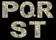 American dollars font Stock Image