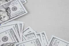 American Dollars on grey Royalty Free Stock Photography