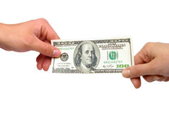 American dollars in the hands Royalty Free Stock Photo
