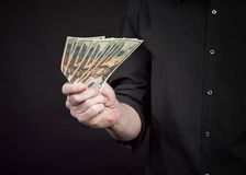 American dollars in the hands Royalty Free Stock Photography