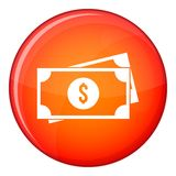 American dollars icon, flat style Royalty Free Stock Photography