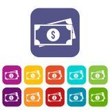 American dollars icons set Royalty Free Stock Image