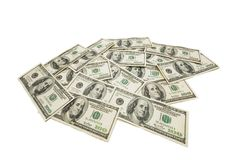 American dollars isolated on the white background Royalty Free Stock Image