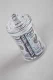 American dollars in a jar Stock Photography