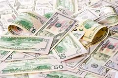 American dollars. Money background. Investment Stock Photo