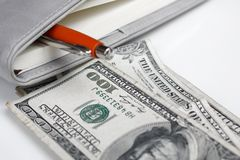 American dollars money with book Royalty Free Stock Photo