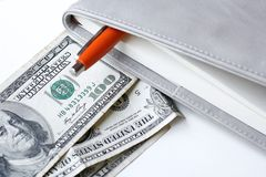 American dollars money with book Royalty Free Stock Image