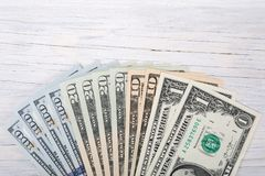 American dollars money fan background Royalty Free Stock Images