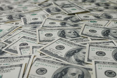 american dollars pile as background Royalty Free Stock Photos