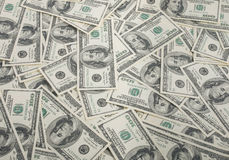 American dollars pile as background Royalty Free Stock Image