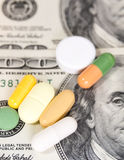 American Dollars And Pills Stock Photography